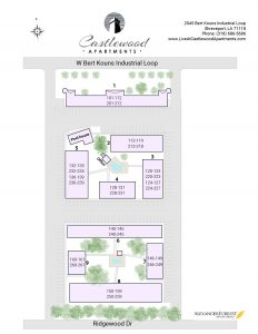Castlewood Apartments site map